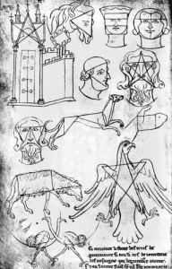 Various drawings by Villard de Honnecourt