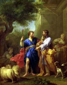 Jacob and Laban before 1737 by Jean Bernard Restout