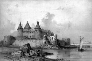Kalmar castle by Auguste Etienne Francois Mayer
