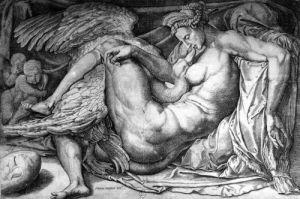 Leda by Michelangelo