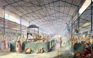 Interior of Les Halles 1835 by Max Berthelin