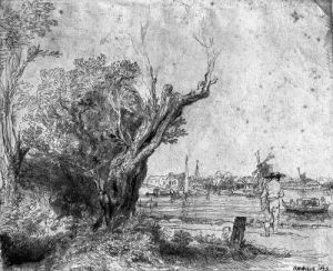 View of Omval near Amsterdam 1645 by Rembrandt