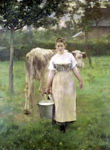 Manda Lametrie The Farm Maid 1887 by Alfred Roll