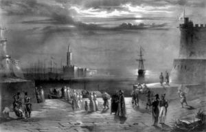 Hussein leaving Algiers1830 by Coppin
