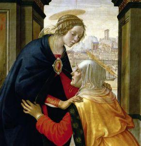 The Visitation 1491 (Detail) by Domenico Bigordi Ghirlandaio