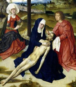 The Lamentation c.1455 (Detail) by Dirck Bouts