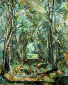 Avenue at Chantilly, 1888 by Paul Cezanne
