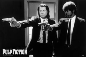 Pulp Fiction (B&W Guns) by Anonymous