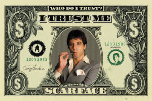 Scarface (Dollar Bill) by Maxi