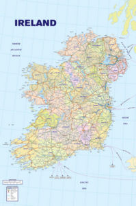 Map of Ireland by Anonymous