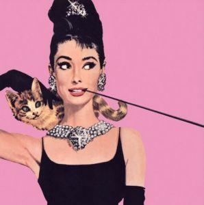 Audrey Hepburn (Pink) - square by Anonymous