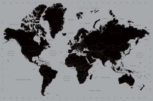 World Map (Contemporary) by Maxi