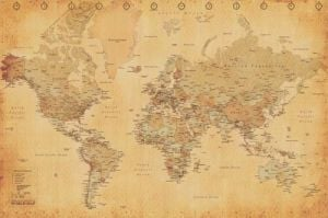 World Map (Vintage Style) by Anonymous