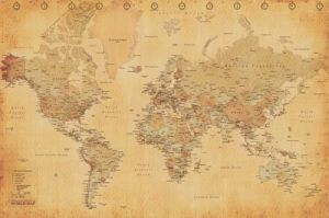 World Map (Vintage Style) by Maxi