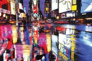 Times Square Colours by Anonymous