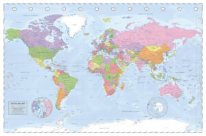 Political World Map - Miller Projection by Maxi