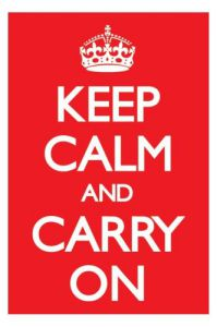 Keep Calm And Carry On (Red) by Maxi