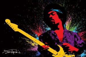 Jimi Hendrix (Paint) by Maxi