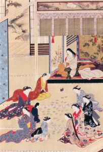 Game of cards in women's apartments in Palace of Shogun by Okumura Masanobu