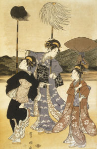 The Walk by Suzuki Harunobu