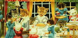 Three little kittens who lost their mittens, children's nursery rhyme from French scrapbook, part 2 by Anonymous