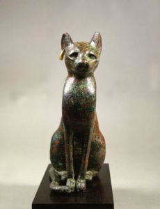Cat goddess Bastet, bronze by Anonymous
