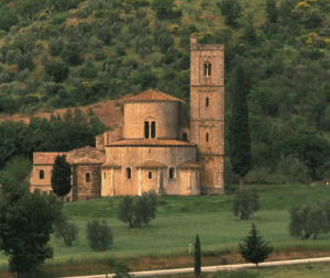 Abbazia di Sant' Antimo outside of Montalcino in Tuscany, Italy by Danita Delimont