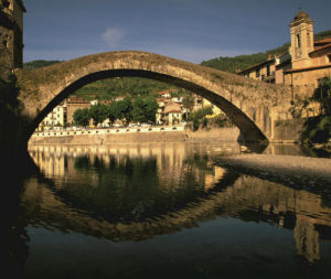 Il Ponte Vecchio in the town of Dolceacqua on the Riviera di Ponente, Italy by Danita Delimont
