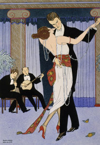 Couple dancing, 1919 by Halouze