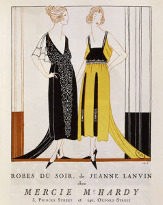 Evening dresses by Jeanne Lanvin by Anonymous