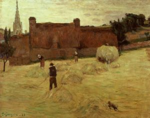 La fenaison en Bretagne, Haymaking in Brittany, 1888 by Paul Gauguin
