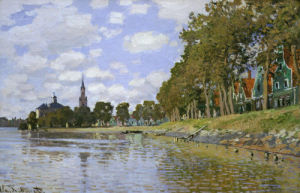 Zaandam in Holland, 1871 by Claude Monet