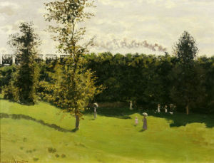 Train in the countryside, c. 1870 by Claude Monet
