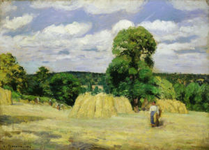 The Harvest at Montfoucault 1876 by Camille Pissarro