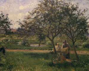 La brouette; verger (wheelbarrow; orchard), c.1881 by Camille Pissarro