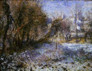 Landscape in snow, c. 1870 by Pierre Auguste Renoir
