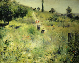 Pathway through high grass, 1876 by Pierre Auguste Renoir