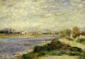 The river Seine at Argenteuil, Val d'Oise, 1868 by Pierre Auguste Renoir