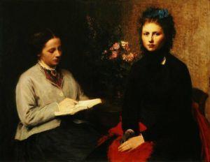 La lecture by Ignace-Henri-Théodore Fantin-Latour