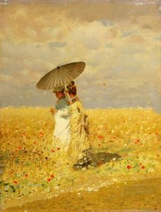 In the fields, 1873 by Giuseppe de Nittis