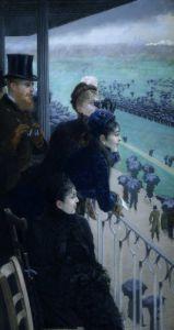 Horse racing in Bois de Boulogne, Paris, 1881 by Giuseppe de Nittis