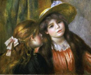 Portrait of two little girls, 1890 by Pierre Auguste Renoir