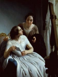 Two women, 1853 by Luigi Trecourt