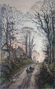 Near Pinner (Restrike Etching) by Frederick Albert Slocombe