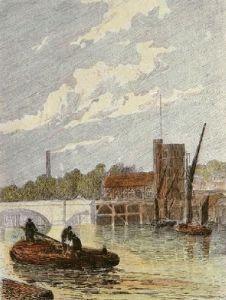 Putney Bridge (Restrike Etching) by Gordon