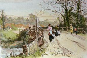 Village Bridge (Restrike Etching) by Percy Robertson