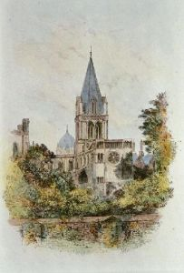 Oxford, Christ Church Cathedral (Restrike Etching) by Edward Slocombe