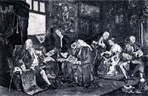 Marriage a La Mode - Pl. I (Restrike Etching) by William Hogarth