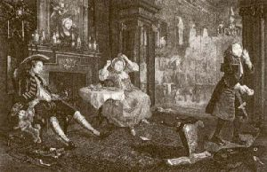 Marriage a La Mode - Pl. II (Restrike Etching) by William Hogarth