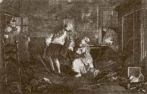Marriage a La Mode - Pl. V (Restrike Etching) by William Hogarth